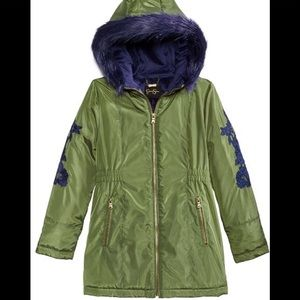Jessica Simpson Girls Embroidered Parka